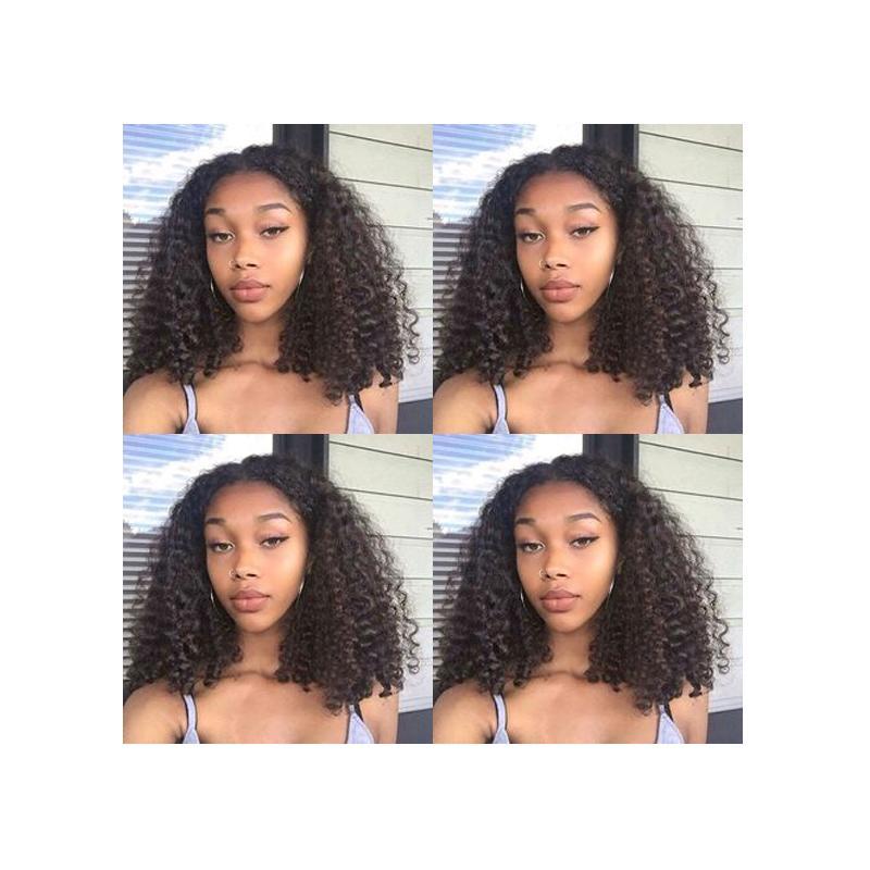 beauté coiffure africaine Americ brazilian cheveux bob afro crépus bouclés perruque naturelle Simulation humaine crépus cheveux bouclés perruque pour les femmes