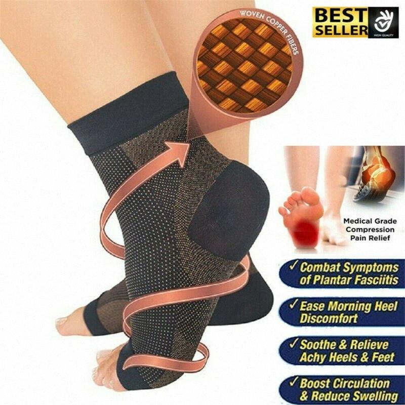 Strap Suporte Ankle Brace Relief Muay Entorse Protector Sports Meias 4LgR #