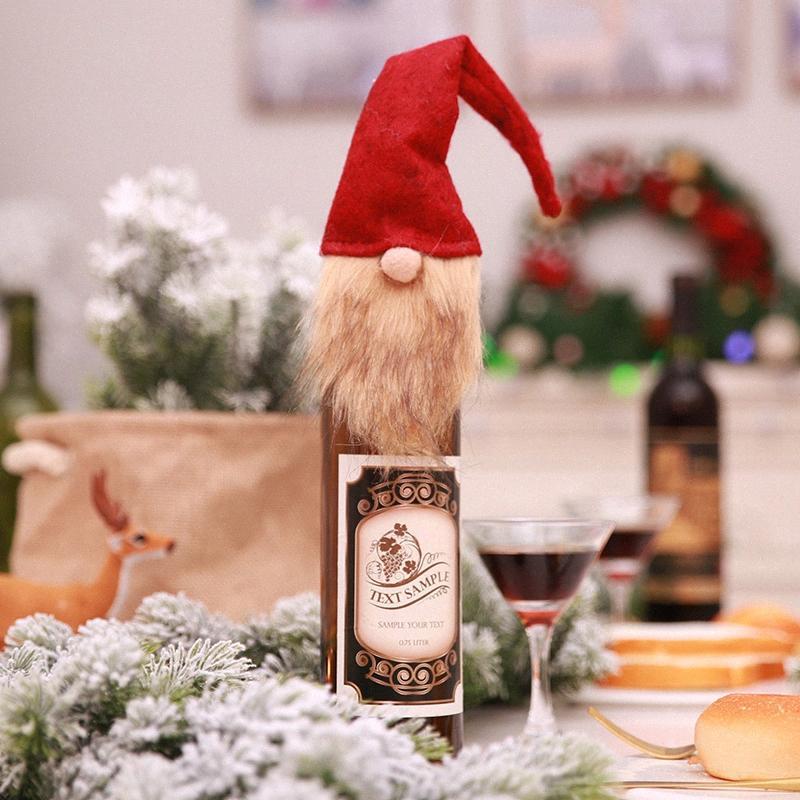Frohe Weihnachten Weihnachtsmann Lange Hat Gnome Kronkorken Dekor Gummiring-Wein-Stopper Kronkorken Wedding Gift Wein gießen AD96 #