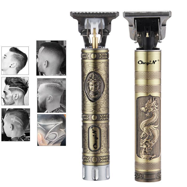 USB Şarj Edilebilir T9 Baldheaded Saç Kesme Elektrikli Saç Düzeltici Akülü Tıraş Makinesi Düzeltici 0mm Erkekler Kuaför Saç Kesme Makinesi Yağ Başlığı