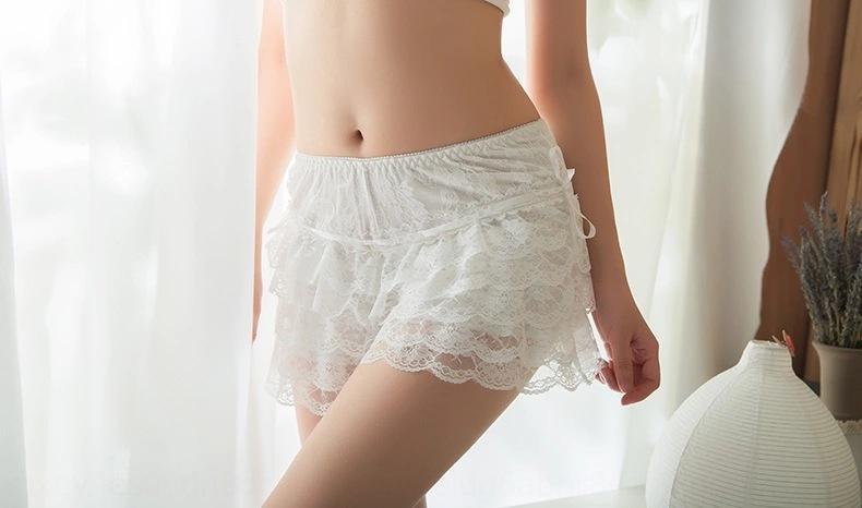 CTI0Q estate del pannello esterno sveglio del merletto regolabile ESTERNO gambali carino merletto di estate e regolabile e leggings Pantaloncini corti gonna