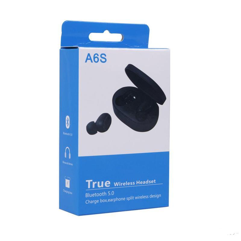 2020 TWS A6s наушников Bluetooth 5.0 Беспроводная Earbuds Водонепроницаемый Bluetooth гарнитура с микрофоном для всех Goophone смартфон