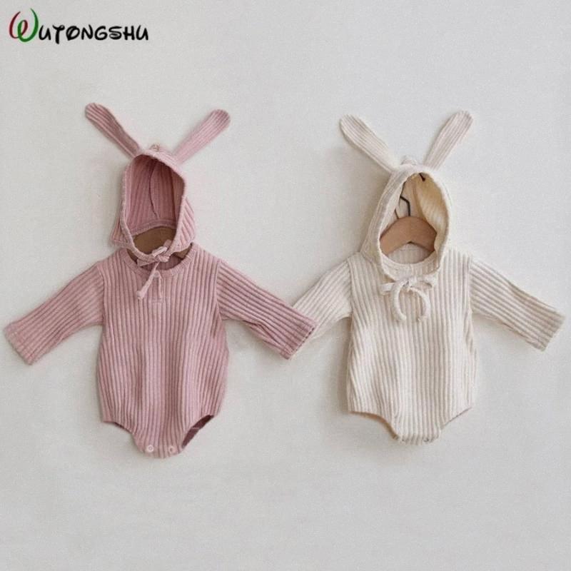 Vêtements pour bébé fille Romper Vêtements de bébé nouveau-né printemps manches longues garçons Jumpsuit Fille Onesie Costume 8m5L #
