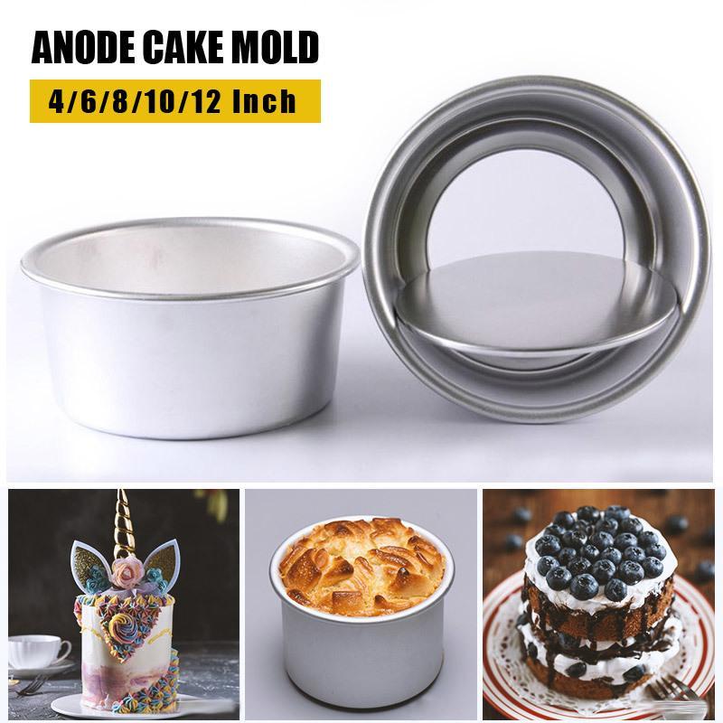 Антипригарное Круглый DIY торт кекс выпечки прессформы 4/6/8/10/12 дюйма прессформы торта чизкейк Пан с съемным дном шоколадного T200703 плесенью