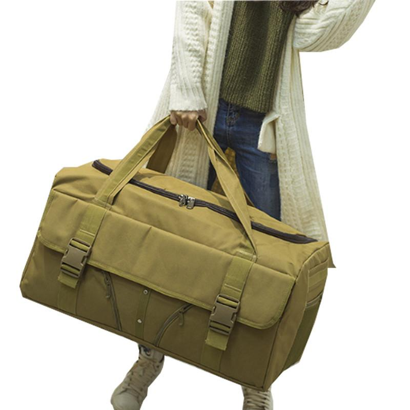Waterproof Hand Luggage Bag Men Women Large Capacity Portable Military Outdoor Weekend Duffle Canvas Travel Bag CX200718