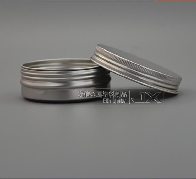 60g / ml Gümüş Alüminyum Boş Lucifugal Düz Şişe Kavanoz Krem Göz Jel Pomade Banyosu Kozmetik Kapları boşaltın