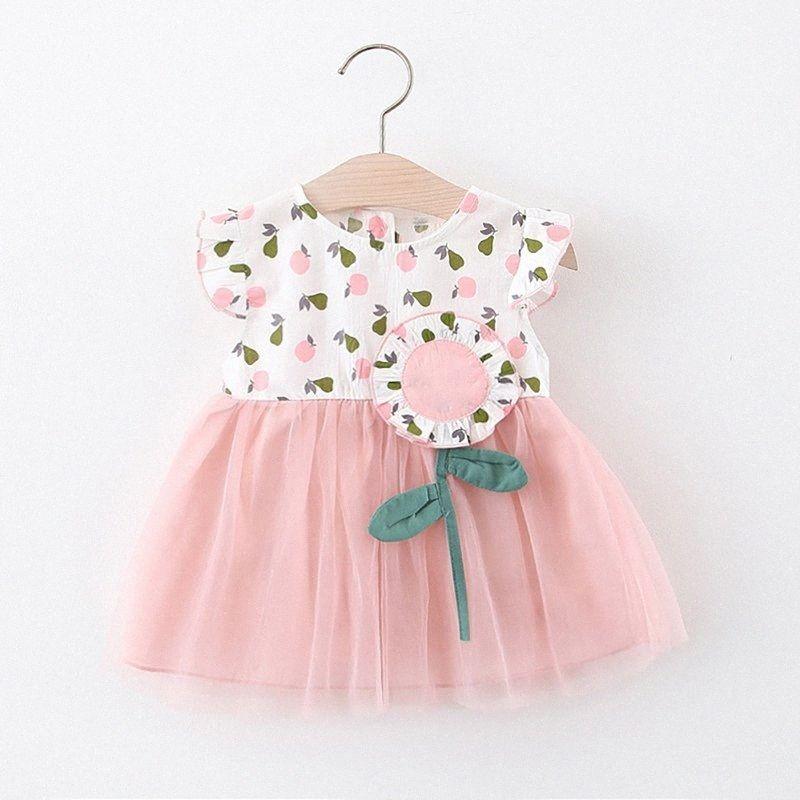 baby dresses girl newborn Toddler Kid Baby Girl Apple Flora Printed Party Princess Dress vestido infantil zCdo#