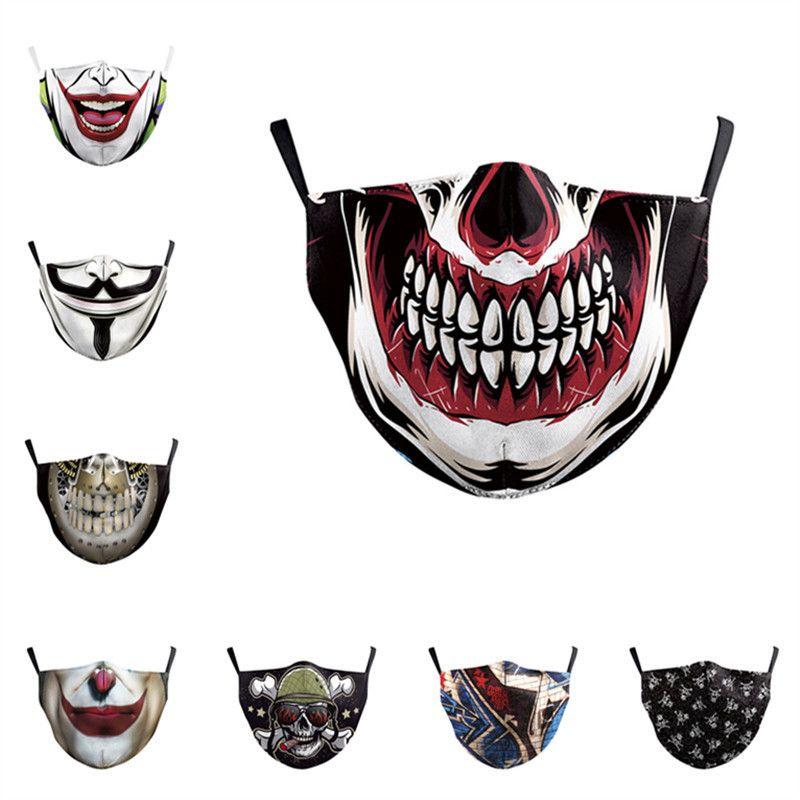 Maschere viso Fashion Designer Digital Print Uomini Donne antipolvere Anti PM2.5 Covers maschere superiore traspirante lavabile Bocca di protezione