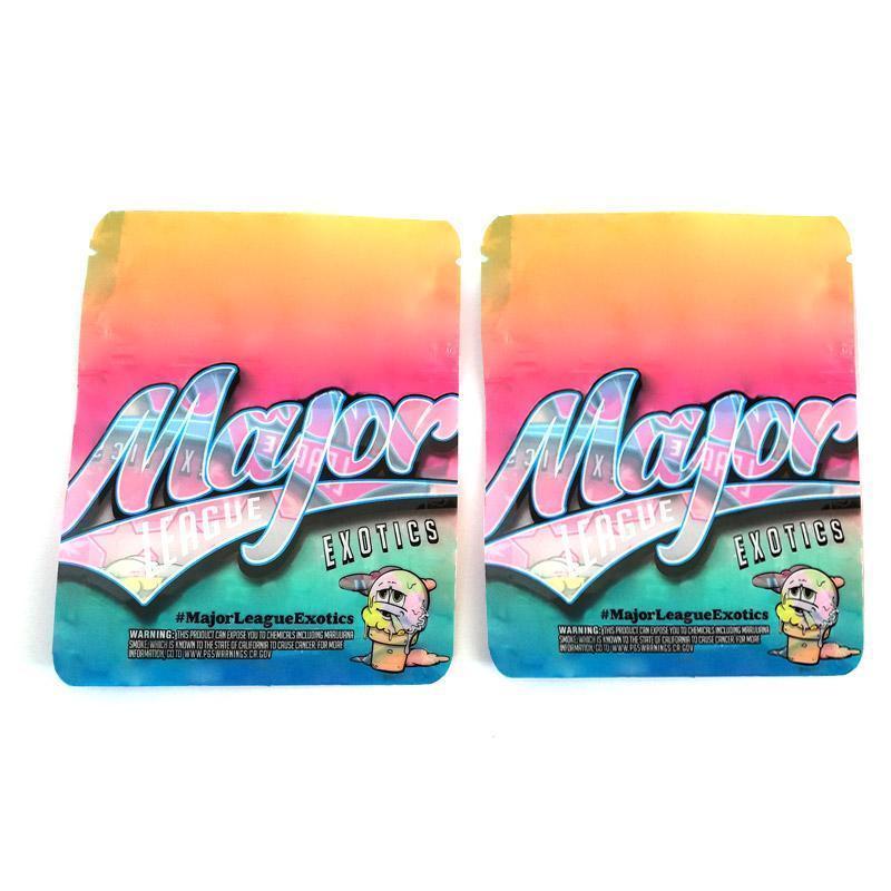 bag nuovo formato Major League esotici 3,5 odore mylar prova blocco custodia a prova lampo a tenuta d'aria bambino per l'erba asciutta packagin gMajor