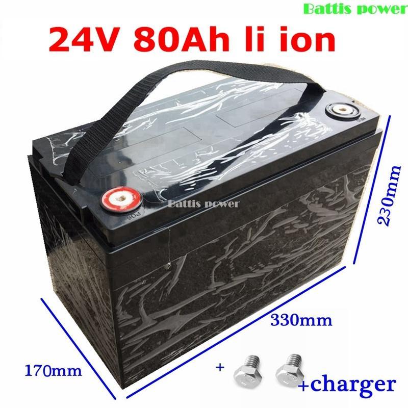 su geçirmez 24v 80AH lityum iyon pil BMS 7S 1500W motorlu elektrikli bisiklet House tutun malzemeleri için + 10A şarj cihazı
