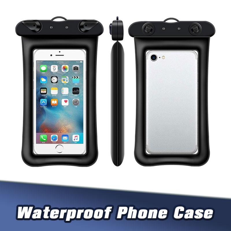 """6"""" Sac universel pour téléphone PVC étanche Dry Natation Caissons pour Samsung Galaxy S8 iPhone 7 plus Smart Phone"""