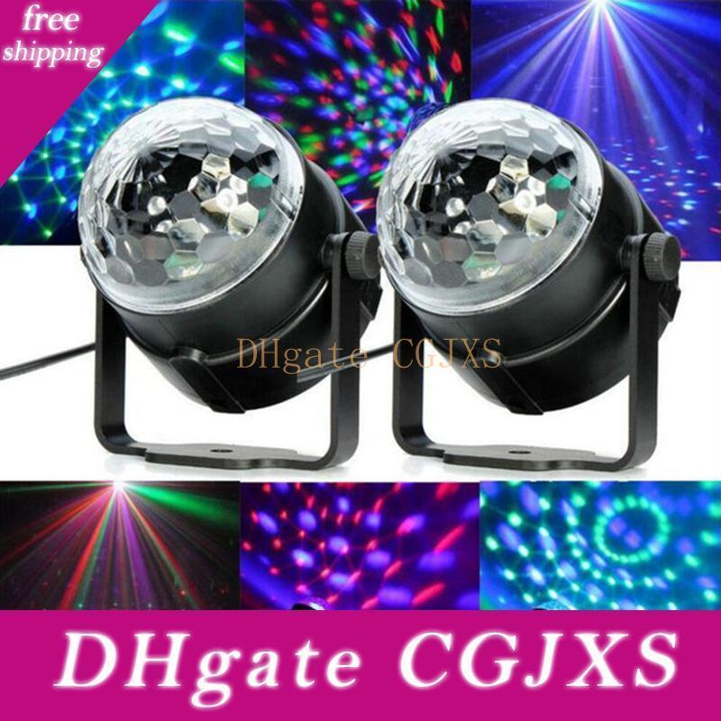 Edison2011 3W mini RGB ha condotto la sfera magica di cristallo della fase Effetto della luce della lampada della lampadina del partito del randello della discoteca del DJ di esposizione della luce UE / USA Plug