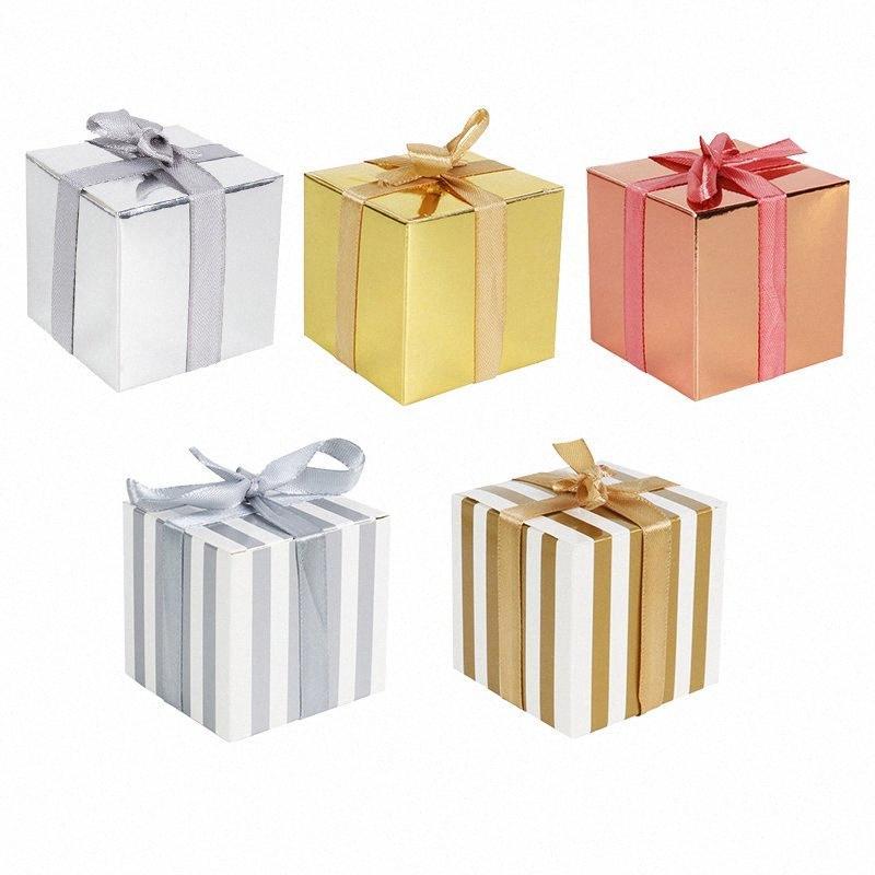 10pcs / lot Mini Düğün Lazer Şeker Kutusu Bebek Doğum Günü Şekerleri Nikah Şekeri Kutusu Şenlikli Parti 61bN # Malzemeleri Yana