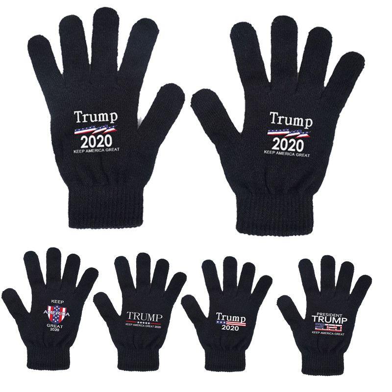 Trump перчатка 2020 Keep America Great печатных перчатки Трампа президентских выборов в США Поставка Теплых Трикотажных перчаток