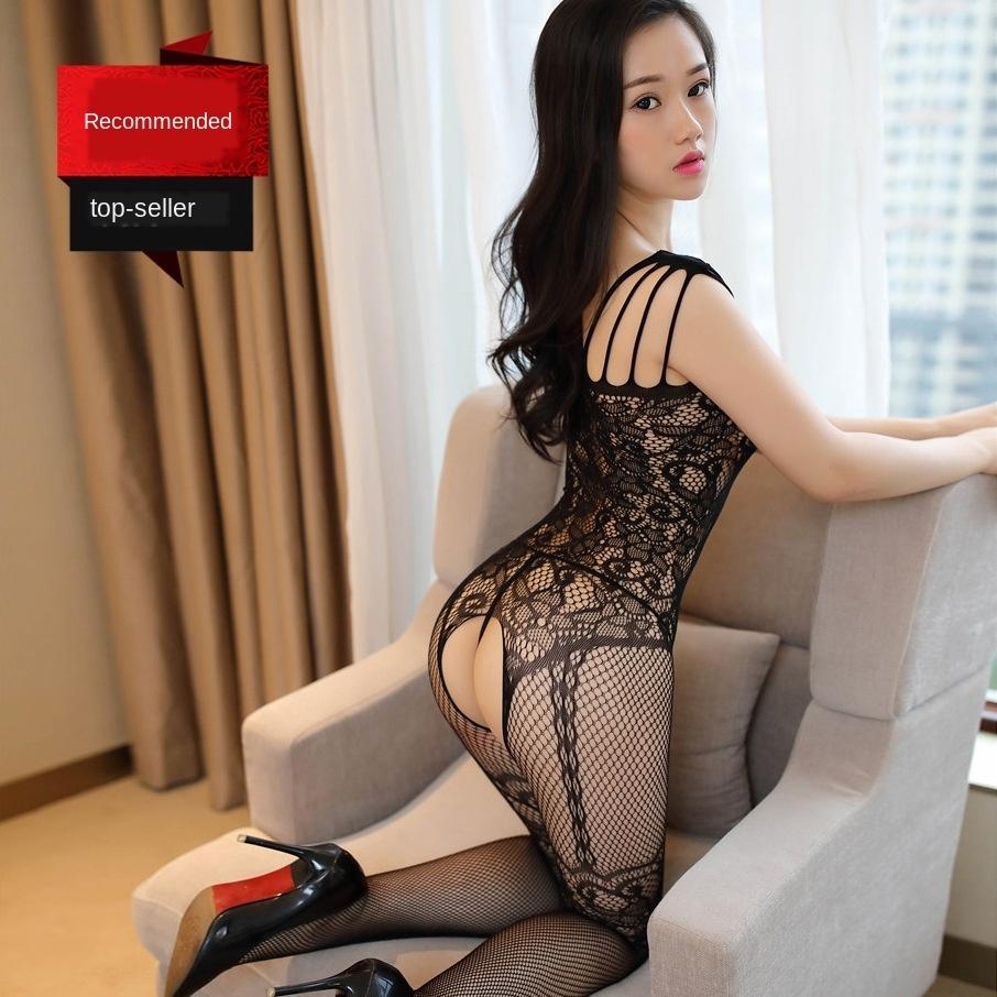 jghSj calze tentazione strappo biancheria intima di seta di seta biancheria intima sexy uniforme un pezzo sexy calze calze aperte Wu Meiying