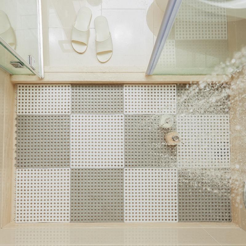 Сращивание душевого пола нескользящей ванна коврик для ванной водонепроницаемой туалет ванна туалет не скользит мат домой доказательство