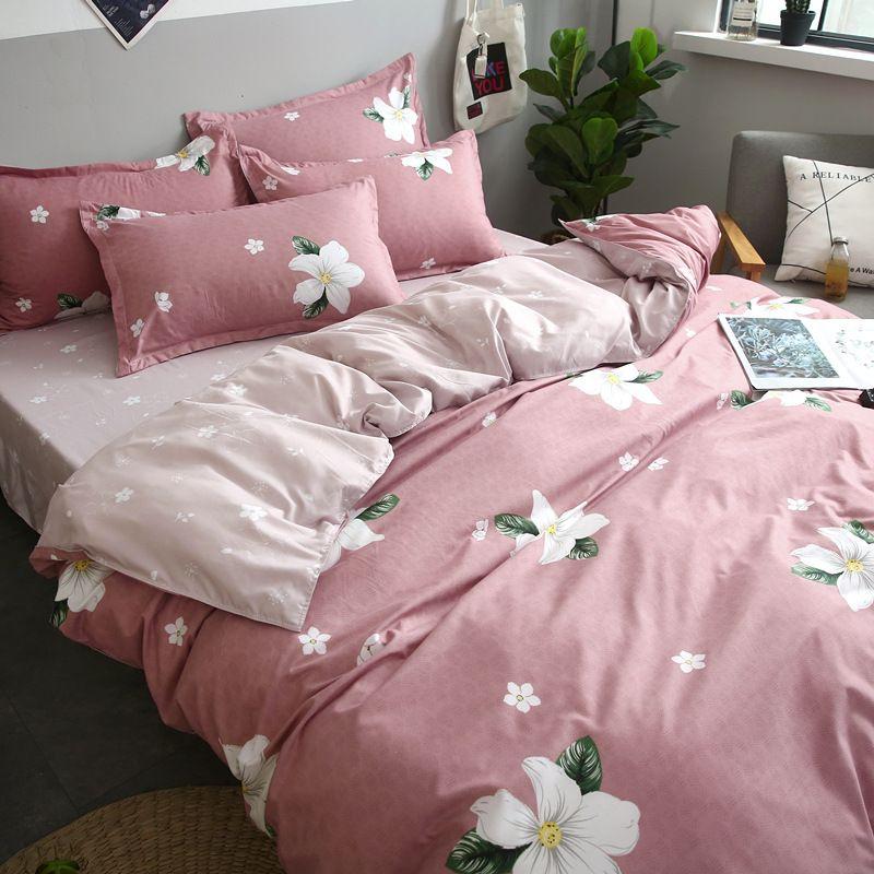 Designer-Bett Bettwäsche-Sets König Double Size Satin-Silk Sommer Gebrauchter Bettwäsche China Luxus Bettwäsche-Kit Bettbezug-Set