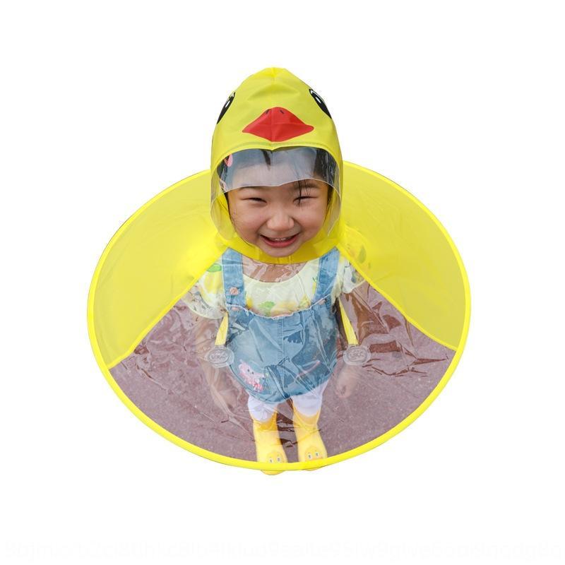 Liuwa 33rOp Kinder fliegende Untertasse Regenmantel Internet Ente Mantelmantel-Regenschirm Kappe sh Mädchen und Jungen gelb Promi-Baby-Regenmantel Kinderg