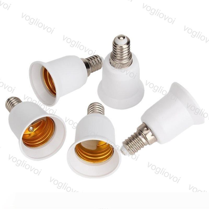 Titular de la lámpara E14 A E27 adaptador de conversión del zócalo de alta calidad de material incombustible zócalo adaptador de la lámpara Titular EPACKET LIBRE