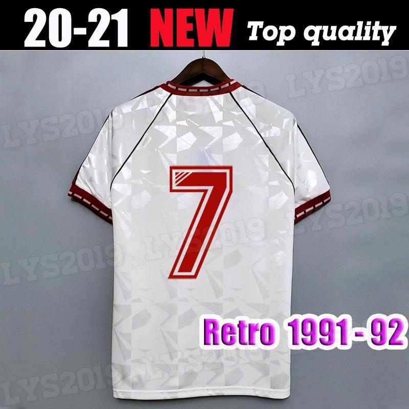 Acquista 1991 CAMICIE 1992 RETRO MANCHESTER UNITED FOOTBALL 91 92 Via Bianco Calcio Maglie Vintage MAN UTD Paul Ince Robson Hughes Camiseta A 17,48 € ...
