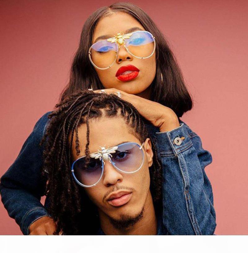 New Sonnenbrillen Luxus Sonnenbrille Stilvolle Modedesigner-Sonnenbrille für Frauen der Männer Glass UV400 6 Stil mit Litttle Bees mit KASTEN