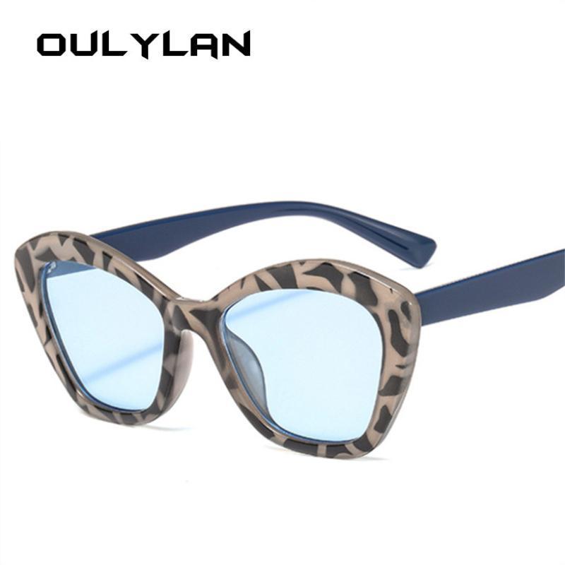 Oulylan Cat Eye óculos de sol Mulheres Óculos Vintage Designer óculos de sol Moda Cateyes Sunglass Shades UV400