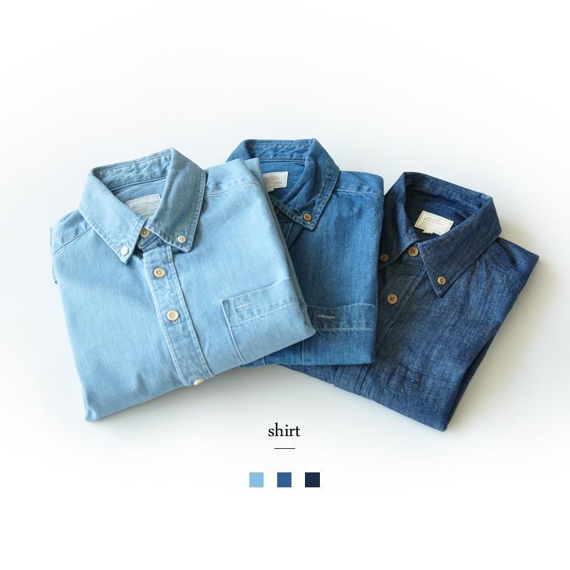 Defekte Produkte Klassische dünne Denim-Hemd-Baumwolle Baumwollbeiläufiges Wash Shirt der Männer Kleid Shirts Jeans Shirts Männer lange Ärmel