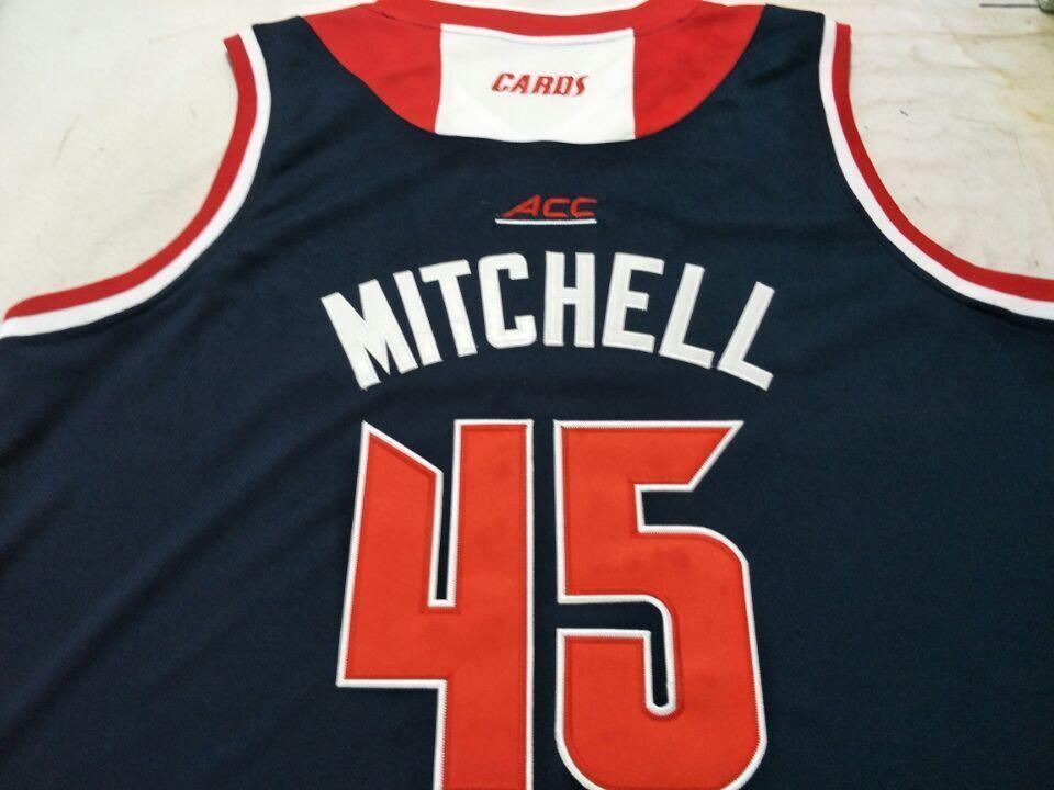 mulheres costume Homens Jovens Vintage Louisville Cardinal # 45 Donovan College Basketball Jersey Tamanho S-4XL ou personalizado qualquer nome ou número de camisa