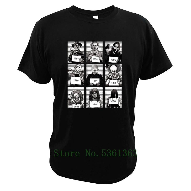 Films d'horreur tshirt A Nightmare On Elm Street Freddy Krueger Michael Myers Halloween Films t-shirt Ce T-shirt Pennywise