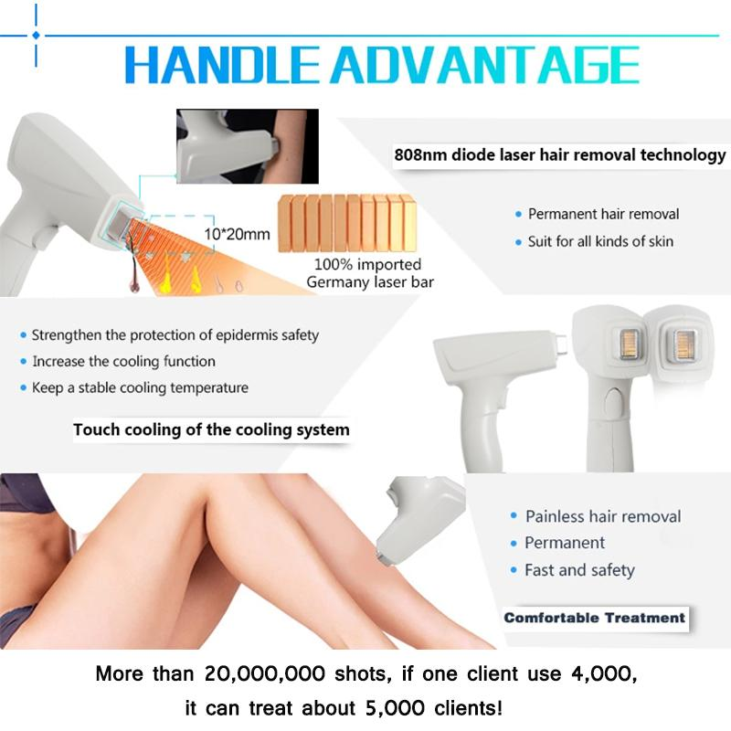 808 Nm Diode Laser Hair Removal Laser Device Soprano Ice Laser