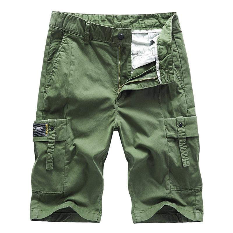 4 colores 2020 del verano nuevos pantalones cortos de algodón ocasional delgada de los hombres de moda de estiramiento delgados Bermudas pantalones cortos ropa de marca masculinos