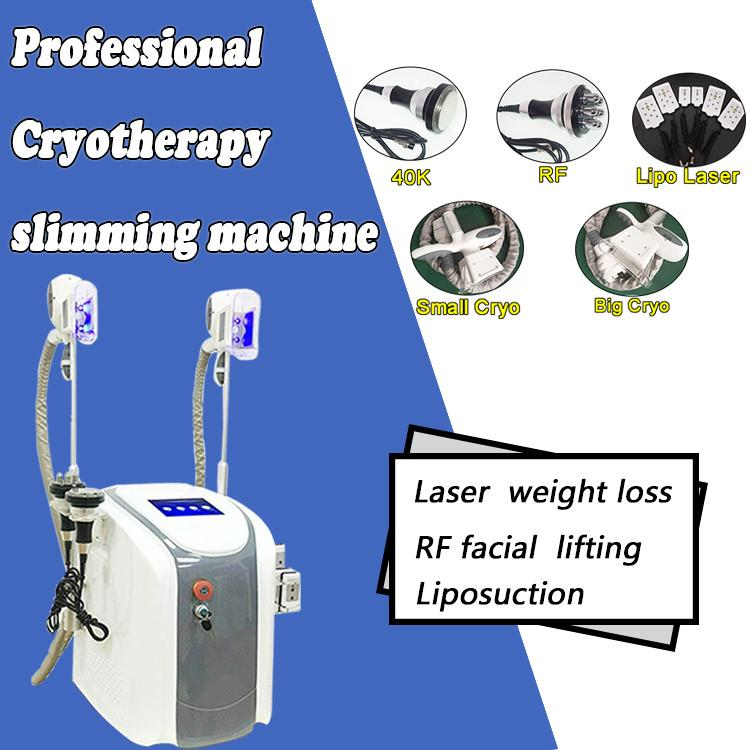 New model Cryolipolysis fat freeze machine lipolaser personal use Cryotherapy lipo laser ultrasonic cavitation RF slimming machine