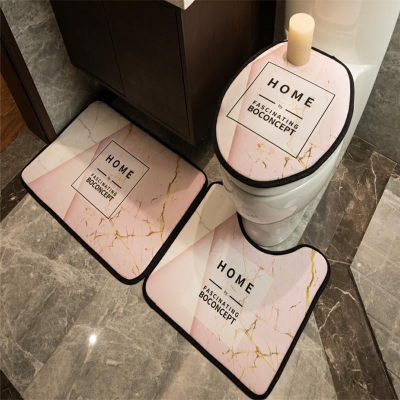 Durevole Stampato Sticky igienici tappetino antiscivolo alta qualità assorbente Accessori Bagno grado superiore senza sbiadire lavabili Covers toilette