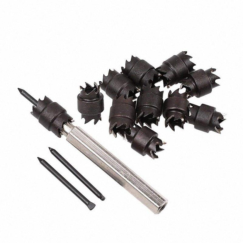 New 13pcs Spot Weld Cutter, 3/8 inch Rotary Spot Weld Cutter Remover Drill Bits Tool w/replacement Blade Kit HCTP#