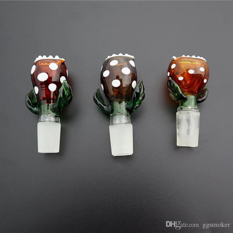 """cadavere fiore 14mm 18mm maschi ciotola di vetro cenere collettore tabacco dell'acqua accessori per tubi da 3"""" pollici ciotola caffettiera"""