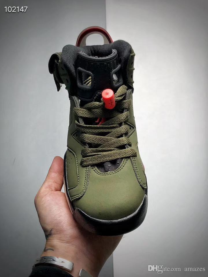 Bambini Cactus Jack scarpe da basket della ragazza del ragazzo 6 6s Pinnacle Bugs Bunny riflettenti sportiva blu Tinker Hatfield Travis Scotts Scarpe sneakers