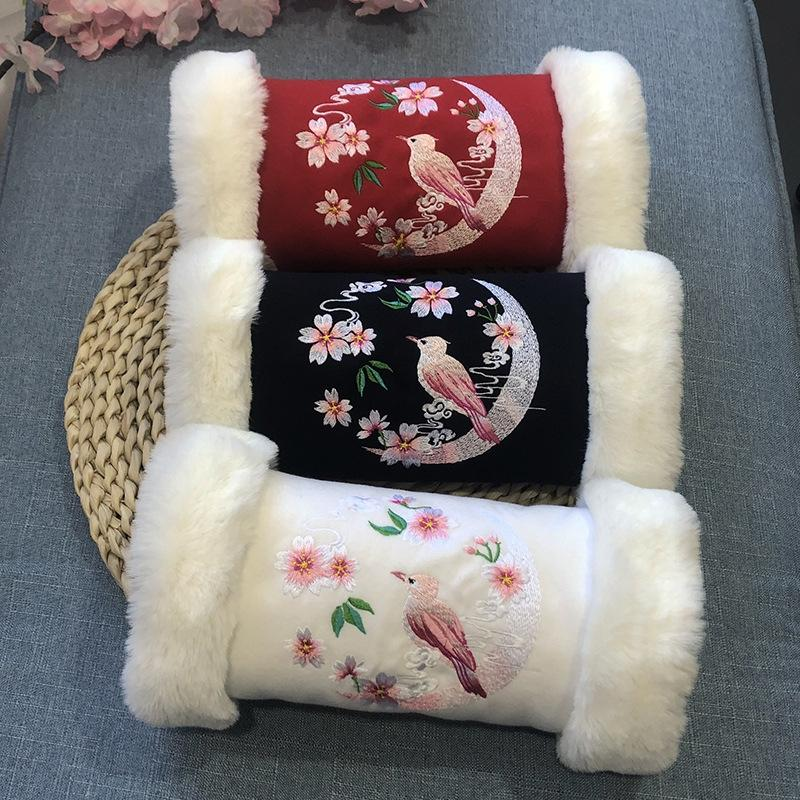 Сян Мин-Han одежды рукописным рука крышка рука теплее бархат утолщенной высота одежды длина 18см 31см весь меха кролика