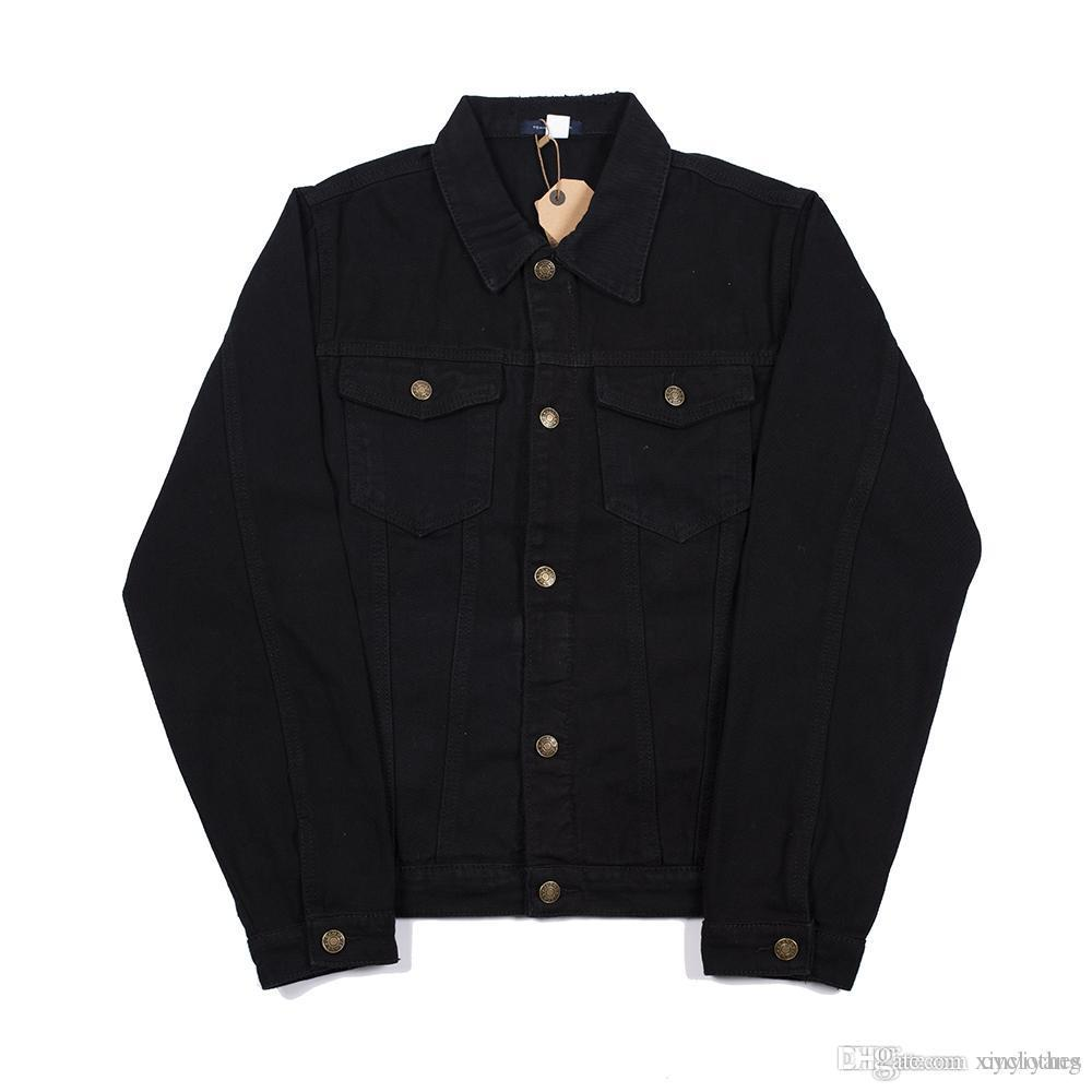 Autumn Winter Men Women Wash Water Black Blue Denim Jacket Lover Sport Letter Embroidery Hip Hop Jacket