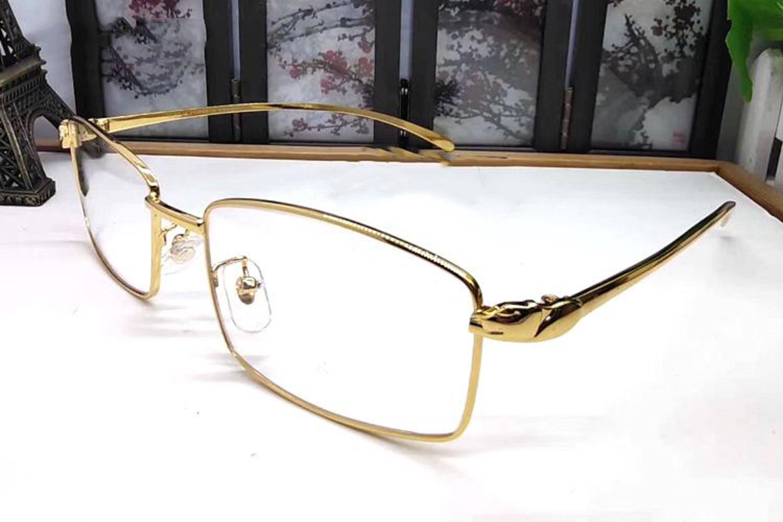 إطارات كاملة خمر الفهد رئيس النظارات الشمسية النظارات الشمسية إطار نمط رجل الذهب والفضة نمر مع مربع
