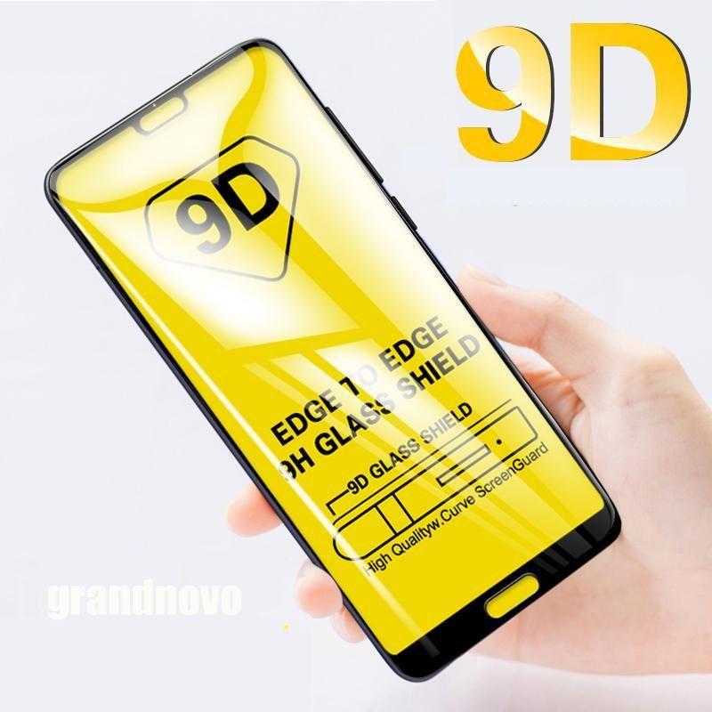 9D Tam Tutkal temperli cam Koruyucu Ekran Koruyucu için Samsung Galaxy A21S A01 CORE A11 A21 A31 A41, A51, A61, A71, A81 A91 M01 M11 M21 M31 M51