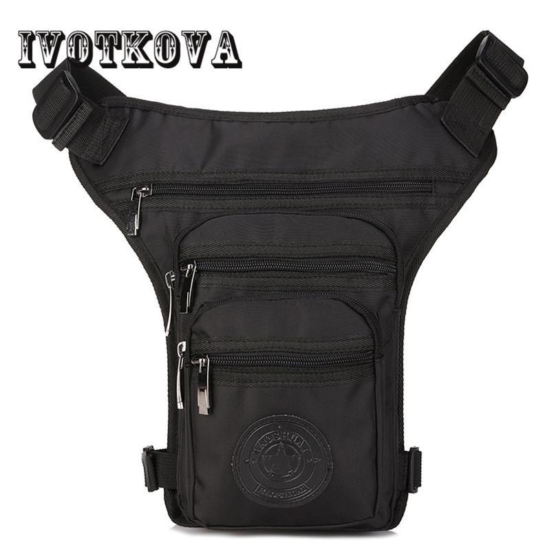 IVOTKOVA أزياء الرجال إسقاط الخصر حقيبة أكسفورد العسكرية فاني حزمة متسابق الدراجات النارية والسفر عالية الجودة مقاوم للماء الساق حقائب الجديدة MX200717