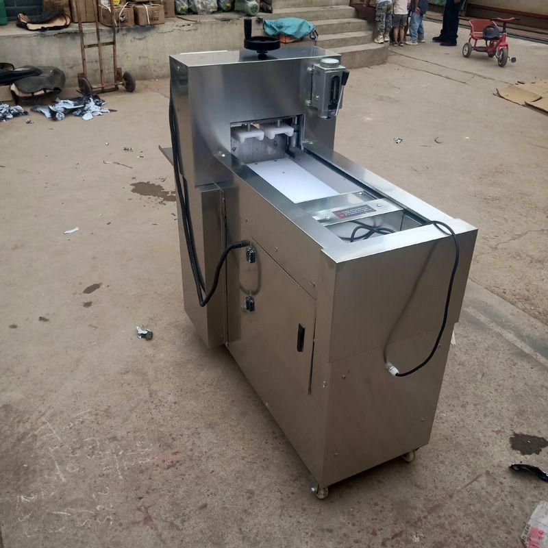 Aço inoxidável elétrica Meat Slicer Mutton rolo CNC vegetal dupla corte de cordeiro máquina de rolo Cordeiro máquina de corte 110V 220V