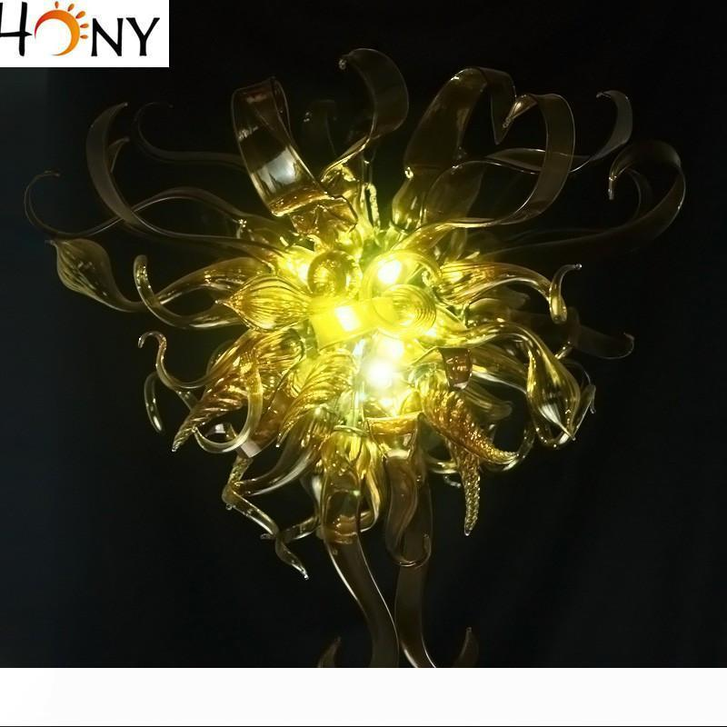 Suposición libre del envío del vidrio del arte araña de cristal de 100% hecho a mano del estilo de Europa de cristal de Murano iluminación de la lámpara decoración de interior