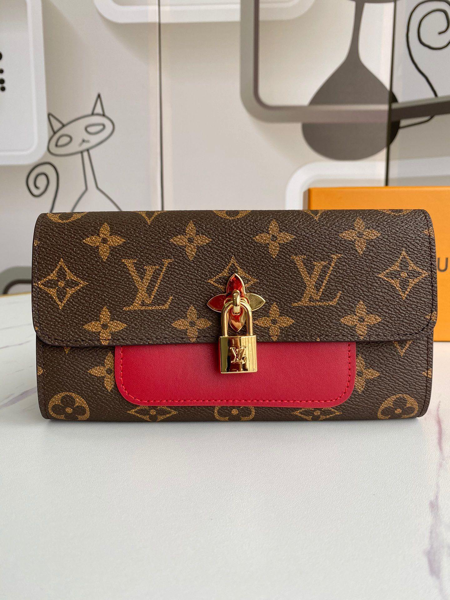 2020 melhor carteira abelha ouro longo zíper com caixa de mulheres marca de couro genuíno carteira quadrada mulheres bolsa carteira de couro 19-9.5-3cm M62566 02