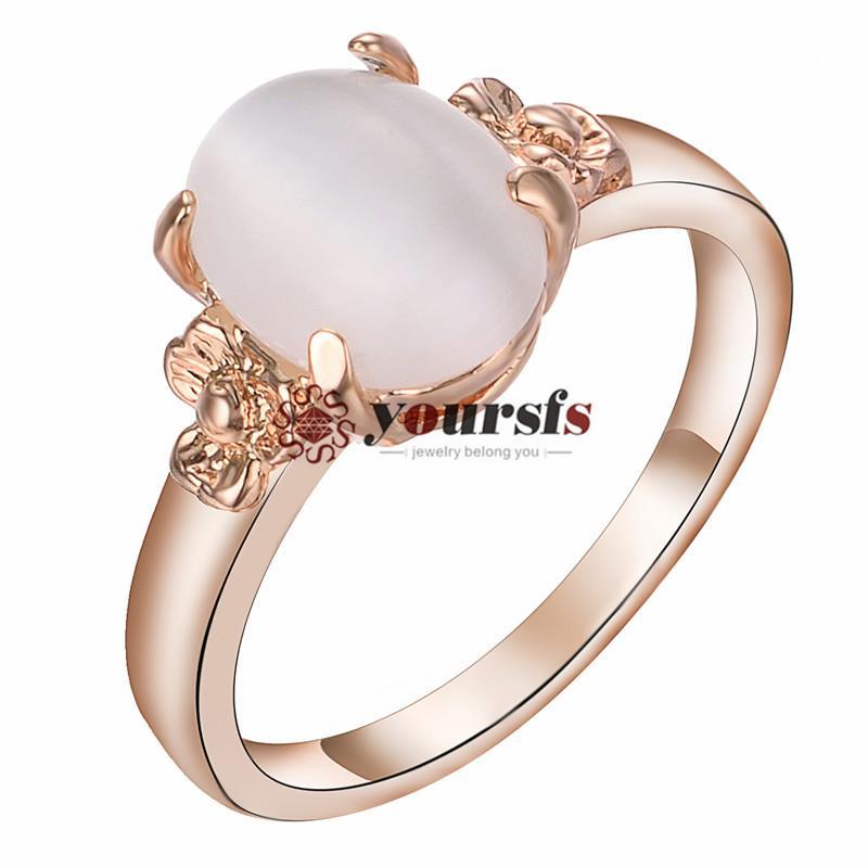 Yoursfs 18k banhado a ouro moda mulheres anel de casamento usando cristais austríacos