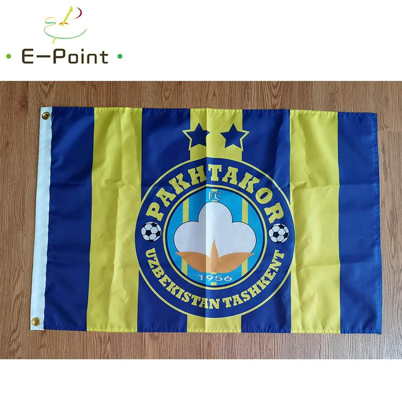 Özbekistan FC Pakhtakor Tashkent 3 * 5 ft (90cm * 150cm) Polyester bayrak Banner dekorasyon uçan ev bahçe bayrak Bayram hediyeler Bayrağı