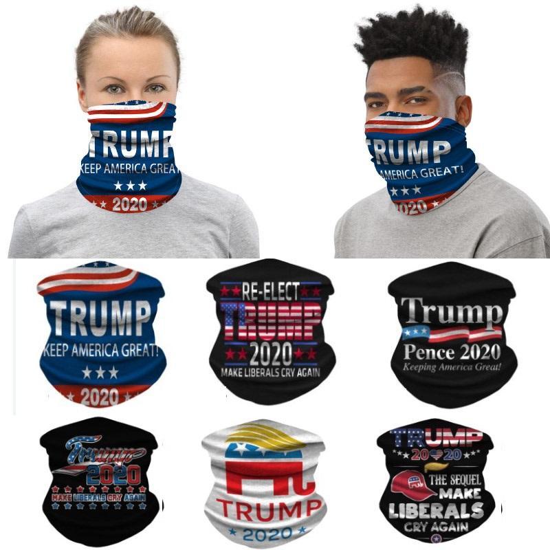 2020 Trump Велоспорт маска маска пыли Ветер головной убор оголовье Бандана шеи Gaiter Headwrap Балаклава Вечеринка Face для наружной WX20-33