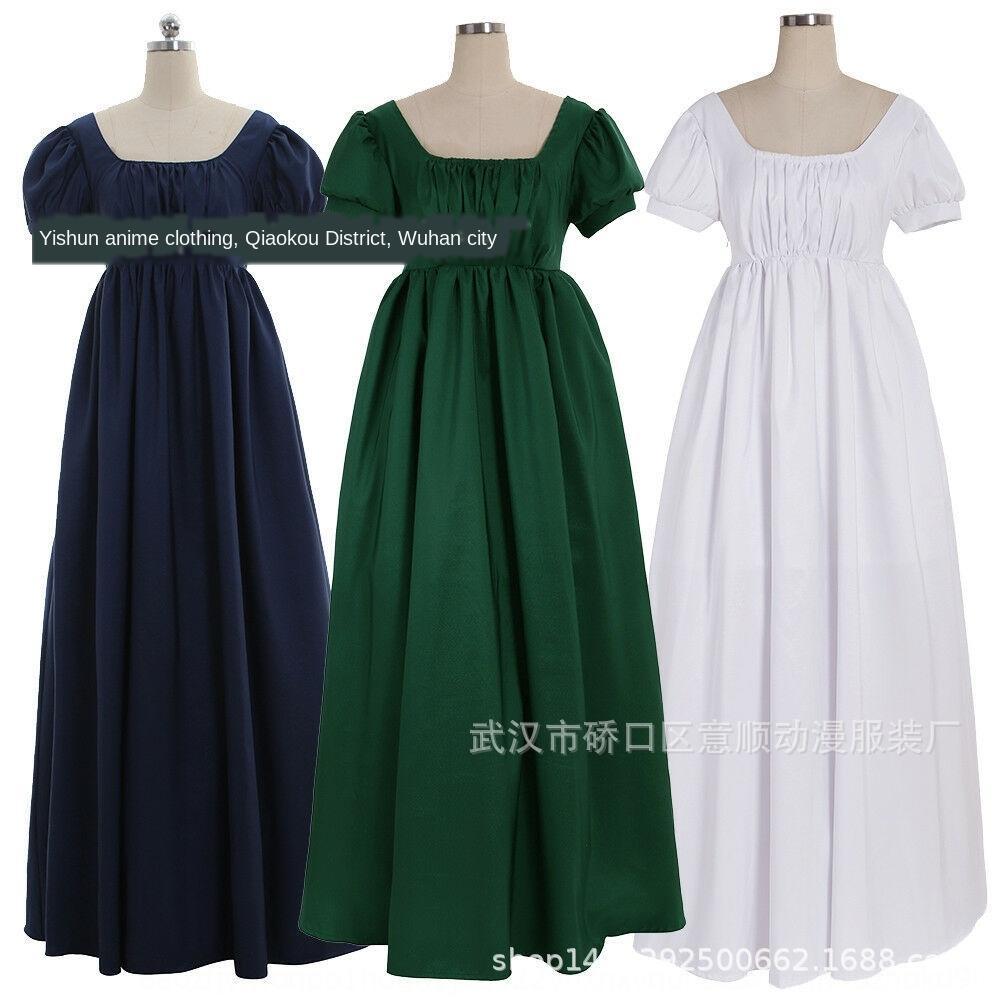 WDSW8 Regent dress Women's high waistline tea Medieval Formal ball Regent ball Women's gown high gown tea waistline Medieval Formal dress