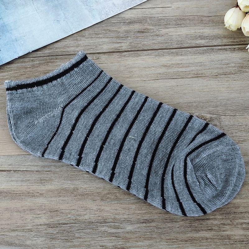 Corea del estilo de moda masculina barco poco profundas rayas calcetines de los calcetines del barco y los hombres