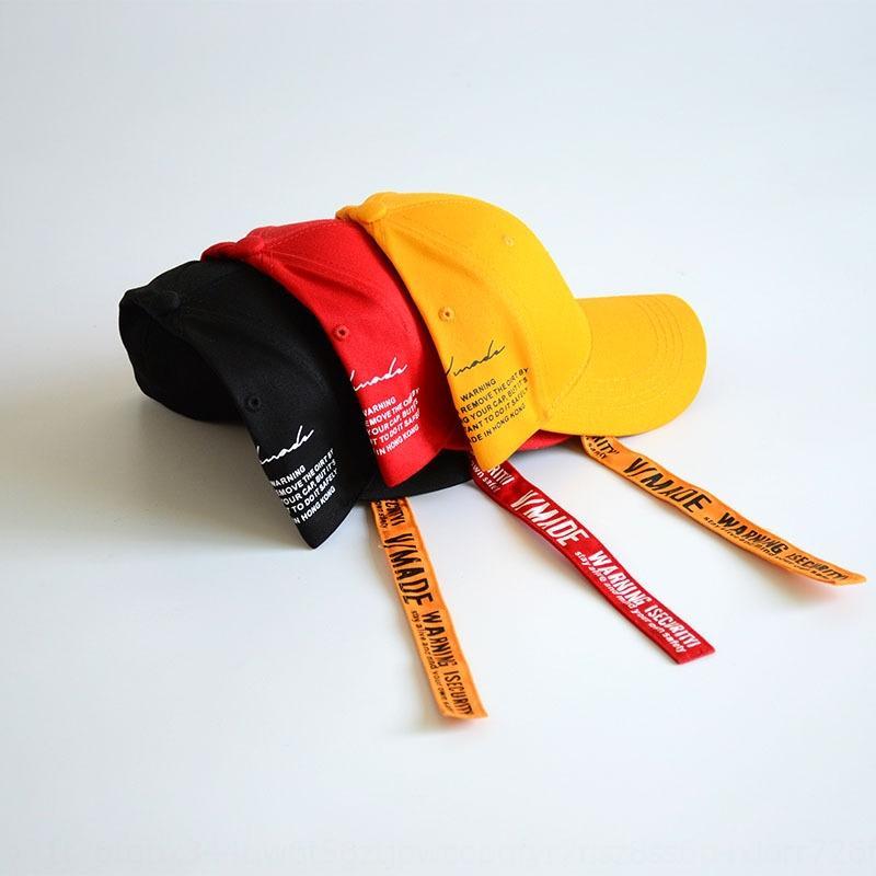 ZhO4E Harajuku şerit şapka yaz erkek ve kadın sokak yan mektupları hip-hop Hip-hop Beyzbol beyzbol şapkası şapka Bando ağzına kapak t kavisli